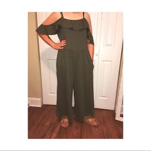 Time and Tru Olive Green Jumpsuit